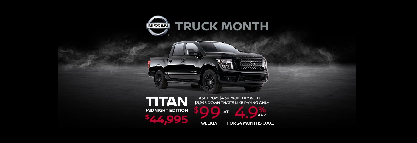 nissan titan truck month sale