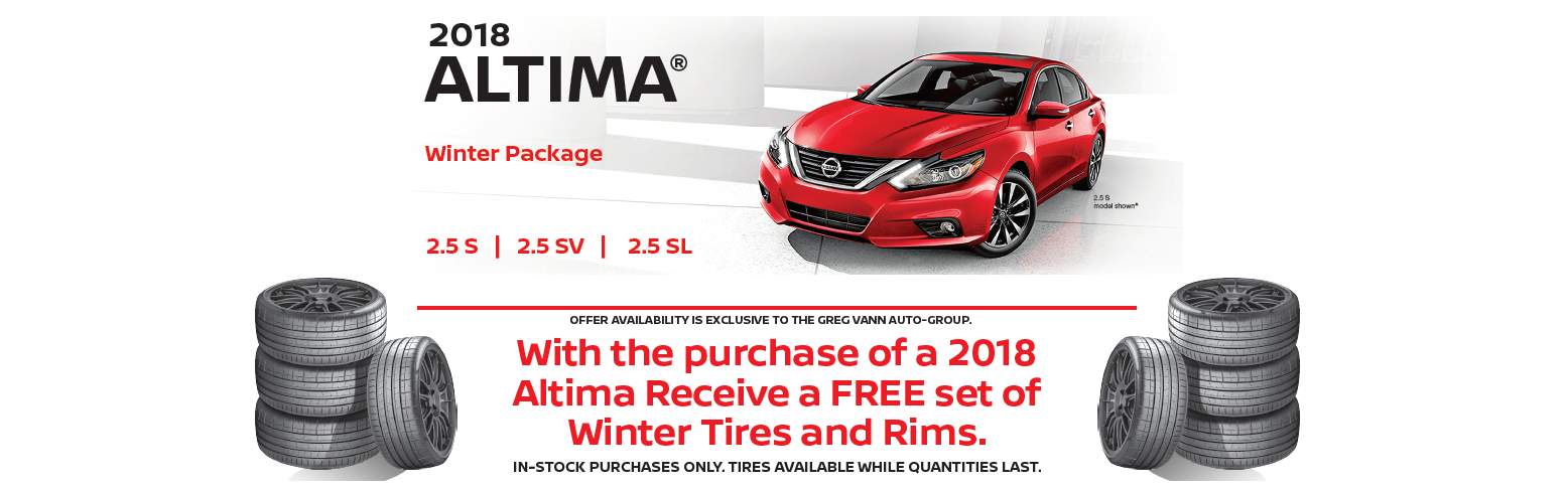 greg vann nissan 2018 altima winter package special deal february