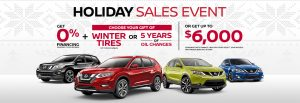 nissan specials holiday sales offers event banner