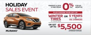nissan murano holiday sales banner