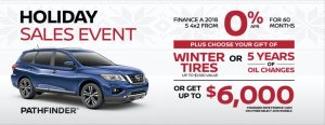 nissan pathfinder holiday sales banner