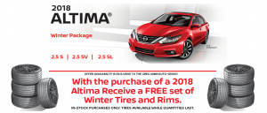 greg vann nissan altima winter tires special deal