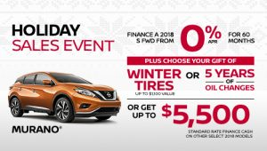 nissan murano holiday sales banner december