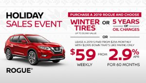 nissan rogue holiday sales banner december