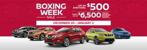 nissan boxing week sales event banner