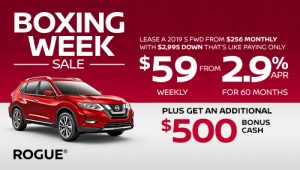 nissan rogue specials boxing week sales banner december