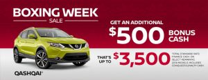 nissan qashqai specials boxing week sales banner december