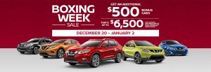 nissan boxing week sale banner december