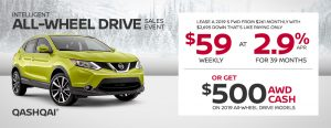 nissan qashqai specials awd sales event banner february