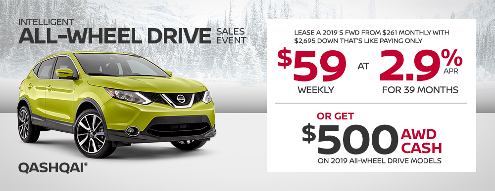 nissan qashqai specials awd sales event banner january