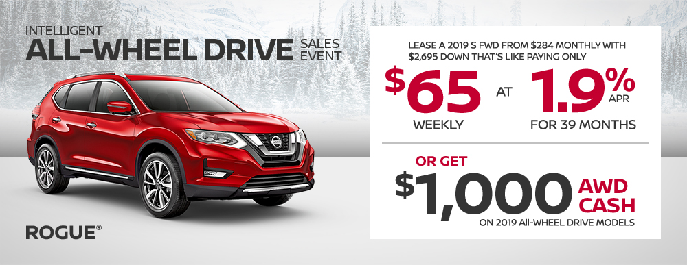 nissan rogue specials awd sales event banner january