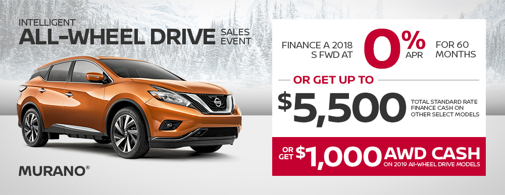 nissan murano specials awd sales event banner january