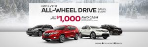 nissan monthy specials banner awd sale event