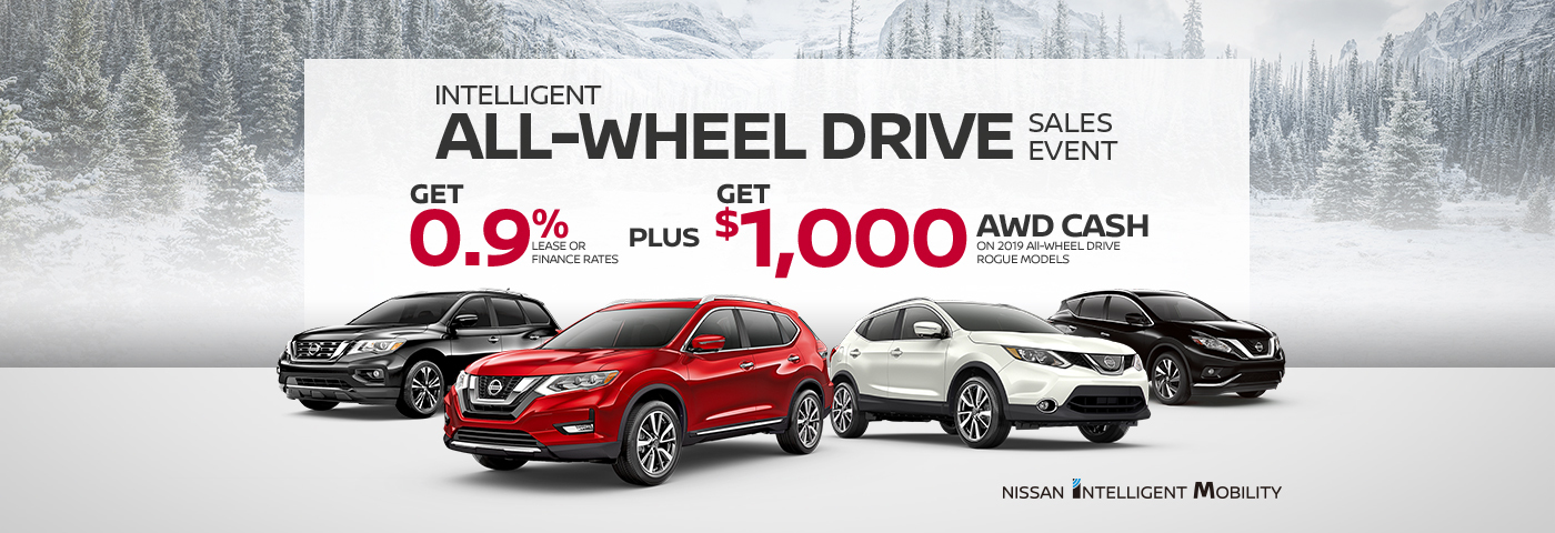 nissan monthy specials banner awd sale event february