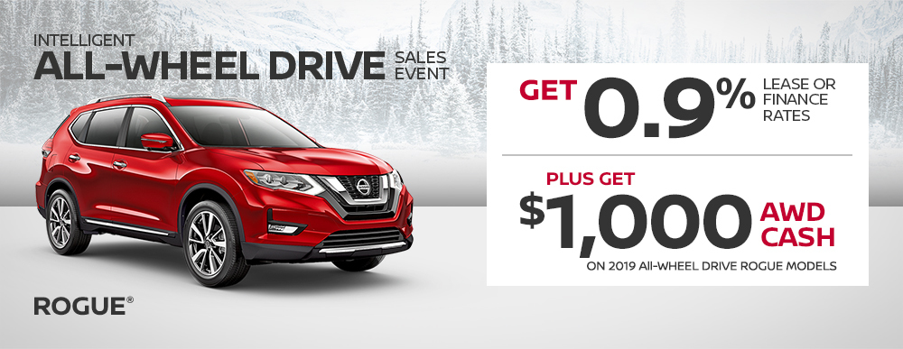nissan rogue specials awd sales event banner february