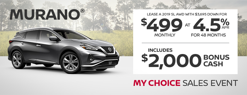 greg vann nissan specials murano my choice april sales event banner