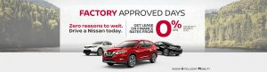 greg vann nissan factory approved sales event may 2019 banner