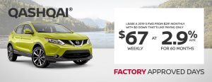greg vann nissan specials qashqai factory approved days june sales event banner