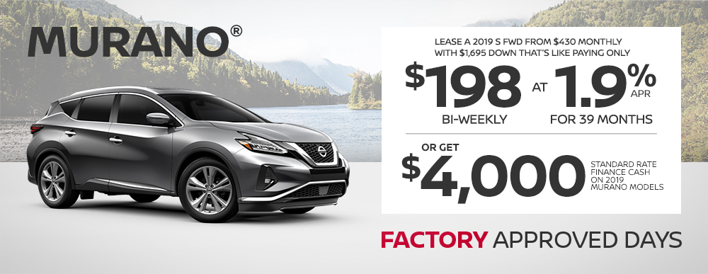 greg vann nissan specials murano factory approved days june sales event banner