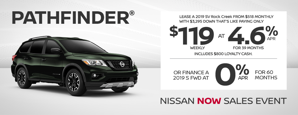 greg vann nissan specials pathfinder now july sales event banner