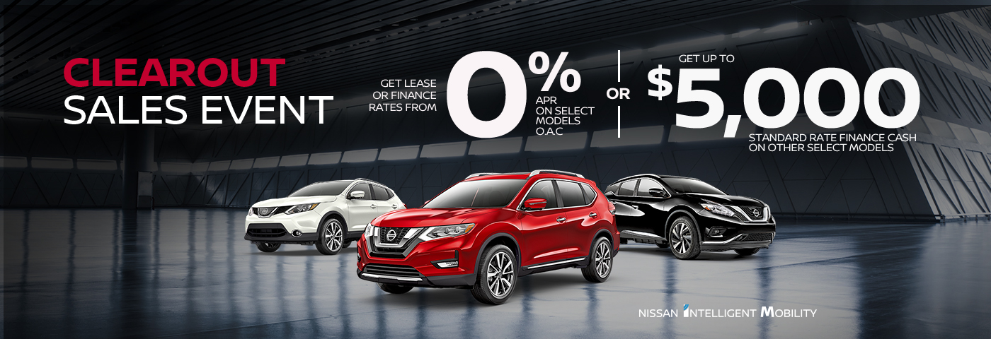 greg vann nissan specials september clearout sales event banner 2019