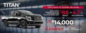 greg vann nissan specials october clearout titan sales event banner 2019