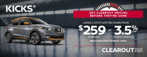 greg vann nissan specials kicks suv cuv clearout november sales event
