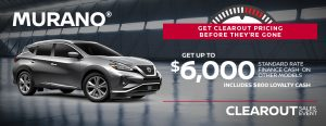 greg vann nissan specials murano suv clearout november sales event