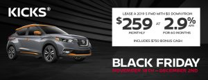 greg vann nissan specials kicks suv cuv black friday november sales event ontario canada