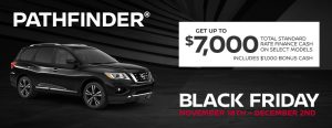 greg vann nissan specials pathfinder suv black friday november sales event ontario canada