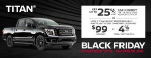 greg vann nissan specials titan truck black friday november sales event ontario canada