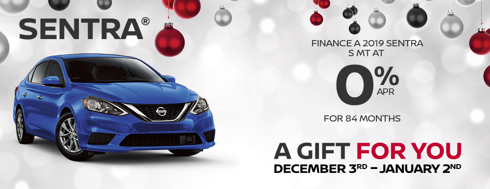 greg vann nissan specials sentra a gift for you december sales event banner