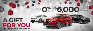 greg vann nissan cambridge kitchener waterloo guelph brantford december gift for you sales event car truck suv cuv